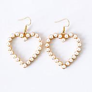 Pentru femei Cercei Picătură Cercei Dangle - Imitație de Perle Inimă femei Dulce Elegant Bijuterii Auriu / Argintiu Pentru Cadou aleasă a inimii