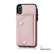 Недорогие Чехлы и кейсы для Galaxy Note-Кейс для Назначение Samsung Note 8 Бумажник для карт Кошелек Кейс на заднюю панель Сплошной цвет Твердый Кожа PU для Note 8