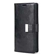 Недорогие Чехлы и кейсы для Galaxy S7-Кейс для Назначение Samsung S8 S7 Бумажник для карт со стендом Чехол Сплошной цвет Твердый Кожа PU для S8 Plus S8 S7 edge S7 S6 edge S6