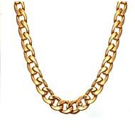 お買い得  -男性用 チェーンネックレス  -  ステンレス鋼 ファッション ゴールド ネックレス 1 用途 贈り物, 日常