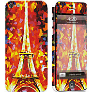 Недорогие Защитные плёнки для экрана iPhone-1 ед. Наклейки для Защита от царапин Эйфелева башня Узор PVC iPhone 5c