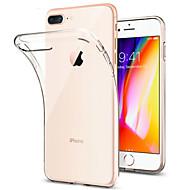 Недорогие Кейсы для iPhone 8 Plus-Кейс для Назначение Apple iPhone 8 iPhone 7 Plus Защита от удара Ультратонкий Прозрачный Прозрачный Мягкий для