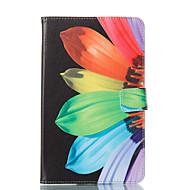 tanie Etui / Pokrowce do Samsunga Tab-Kılıf Na Samsung Tab E 8.0 Portfel Z podpórką Flip Wzór Automatyczne uśpienie/wybudzenie Futerał Kwiaty Twarde Skóra PU na Tab E 8.0