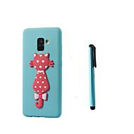 Недорогие Чехлы и кейсы для Galaxy А-Кейс для Назначение SSamsung Galaxy A8 2018 A5(2017) Полупрозрачный С узором Кейс на заднюю панель Кот Мягкий ТПУ для A8+ 2018 A8 2018