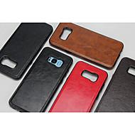 Недорогие Чехлы и кейсы для Galaxy S8 Plus-Кейс для Назначение Samsung S8 S7 удобный Кейс на заднюю панель Сплошной цвет Твердый Кожа PU для S8 Plus S8 S7 edge S7 S6 edge S6