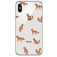 Недорогие Кейсы для iPhone 8 Plus-Кейс для Назначение Apple iPhone X iPhone 8 Ультратонкий Прозрачный С узором Кейс на заднюю панель Животное Мягкий ТПУ для iPhone X