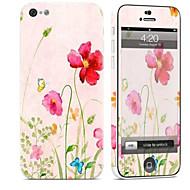 Недорогие Защитные плёнки для экрана iPhone-1 ед. Наклейки для Защита от царапин Цветы Узор PVC iPhone 5c