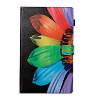 preiswerte Tablet Zubehör-Hülle Für Amazon Kreditkartenfächer Geldbeutel mit Halterung Muster Automatisches Schlafen/Aufwachen Ganzkörper-Gehäuse Blume Hart