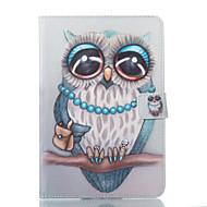 Недорогие Чехлы и кейсы для Samsung Tab-Кейс для Назначение SSamsung Galaxy Tab A 8.0 Кошелек со стендом Флип С узором Авто Режим сна / Пробуждение Чехол Сова Твердый Кожа PU для