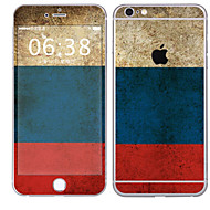 Недорогие Защитные плёнки для экрана iPhone-1 ед. Наклейки для Защита от царапин Флаг Узор PVC iPhone 6s Plus/6 Plus