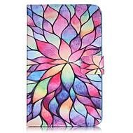 Недорогие Чехлы и кейсы для Samsung Tab-Кейс для Назначение Samsung Tab A 7.0 (2016) Кошелек / Бумажник для карт / со стендом Чехол Цветы Твердый Кожа PU для Tab A 7.0 (2016)