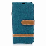cheap Galaxy J Series Cases / Covers-Case For Samsung J5 (2017) J3 (2017) Card Holder Wallet Shockproof with Stand Flip Full Body Cases Solid Color Hard Textile for J5 (2017)