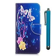 Недорогие Чехлы и кейсы для Galaxy Note 8-Кейс для Назначение SSamsung Galaxy Note 8 Кошелек / Бумажник для карт / со стендом Чехол Бабочка Твердый Кожа PU для Note 8