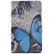 Недорогие Чехлы и кейсы для Galaxy Tab 4 8.0-Кейс для Назначение SSamsung Galaxy Tab 4 8.0 Бумажник для карт / со стендом / Флип Чехол Бабочка Твердый Кожа PU для Tab 4 8.0