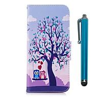Недорогие Чехлы и кейсы для Galaxy S8 Plus-Кейс для Назначение Samsung S9 S9 Plus Бумажник для карт Кошелек со стендом Флип Магнитный Чехол Сова Твердый Кожа PU ТПУ для S9 Plus S9