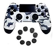 abordables -controlador inalámbrico de juegos bluetooth para ps4, controlador de juegos controlador de juegos de silicona / abs 1 unidad de PC