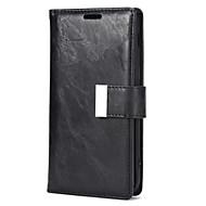 Недорогие Чехлы и кейсы для Galaxy A7(2017)-Кейс для Назначение Samsung A7(2017) A5(2017) Бумажник для карт со стендом Чехол Сплошной цвет Твердый Кожа PU для A3 (2017) A5 (2017) A7