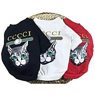 tanie Artykuły dla zwierząt-Psy Bluzy Ubrania dla psów Zwierzęta Modny Wysoka jakość Zwierzę Słowa i cytaty White Czerwony Black Kostium Dla zwierząt domowych