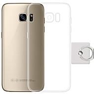Недорогие Чехлы и кейсы для Galaxy S7 Edge-Кейс для Назначение Samsung S7 edge S7 Кольца-держатели Кейс на заднюю панель Сплошной цвет Мягкий ТПУ для S7 edge S7