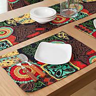 abordables Salvamanteles-Gráfico Lino / Algodón Cuadrado Juego de Mesa Decoraciones de mesa