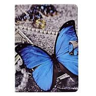 Недорогие Чехлы и кейсы для Samsung Tab-Кейс для Назначение SSamsung Galaxy Tab S3 9.7 Бумажник для карт со стендом Флип С узором Авто Режим сна / Пробуждение Чехол Бабочка