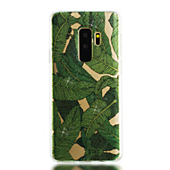 Недорогие Чехлы и кейсы для Galaxy S9 Plus-Кейс для Назначение SSamsung Galaxy S9 S9 Plus IMD Прозрачный С узором Сияние и блеск Кейс на заднюю панель Растения Сияние и блеск Мягкий