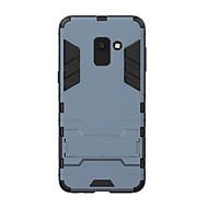 Недорогие Чехлы и кейсы для Galaxy А-Кейс для Назначение SSamsung Galaxy A8 2018 Защита от удара / со стендом Кейс на заднюю панель Однотонный Твердый ПК для A8 2018