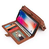 Недорогие Кейсы для iPhone 8-Кейс для Назначение Apple iPhone X / iPhone 8 Кошелек / Бумажник для карт / Защита от удара Чехол Однотонный Твердый Кожа PU для iPhone X / iPhone 8 Pluss / iPhone 8