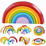 olcso Játékok & hobbi-7 Colors Wooden Stacking Rainbow Shape Építőkockák 7pcs Bika Szülő-gyermek interakció Tökéletes Család Igračke Játékok Ajándék