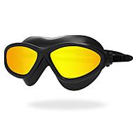 お買い得  -スイミングゴーグル 防水 曇り止め 紫外線カット 耐傷性 飛散防止 滑り止めストラップ シリカゲル PC イエロー ホワイト レッド グリーン ライトグレー ライトブルー