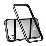 お買い得  -ケース 用途 Apple iPhone X 耐衝撃 バンパーケース 純色 ハード メタル のために iPhone X
