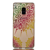 Недорогие Чехлы и кейсы для Galaxy A5(2017)-Кейс для Назначение SSamsung Galaxy A8 2018 A8 Plus 2018 IMD С узором Кейс на заднюю панель Мандала Сияние и блеск Мягкий ТПУ для A3