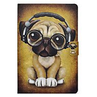 cheap Cell Phone Accessories-Case For Samsung Galaxy Tab E 9.6 / Tab A 10.1 (2016) Card Holder / with Stand / Flip Full Body Cases Dog Hard PU Leather for Tab 3 Lite / Tab E 9.6 / Tab A 8.0 (2017)