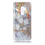 Недорогие Чехлы и кейсы для Galaxy S9 Plus-Кейс для Назначение SSamsung Galaxy S9 S9 Plus Покрытие IMD Кейс на заднюю панель Мрамор Мягкий ТПУ для S9 Plus S9 S8 Plus S8 S7 edge S7