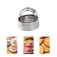 お買い得  キッチン&ダイニング-ベークツール ステンレス鋼430 ベーキングツール / ウェディング / 誕生日 クッキー / Cupcake / チョコレート 円形 ケーキ型 / クッキーカッター 3本