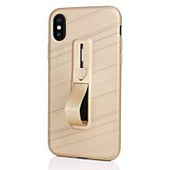 Недорогие Кейсы для iPhone 8-Кейс для Назначение Apple iPhone X iPhone 8 со стендом Кейс на заднюю панель Сплошной цвет Мягкий ТПУ для iPhone X iPhone 8 Pluss iPhone
