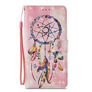 Недорогие Чехлы и кейсы для Galaxy S8-Кейс для Назначение SSamsung Galaxy S9 S9 Plus Бумажник для карт Кошелек со стендом Флип С узором Чехол Ловец снов Твердый Кожа PU для S9