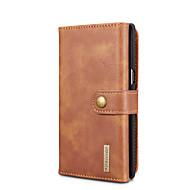 Недорогие Чехлы и кейсы для Galaxy Note 8-Кейс для Назначение SSamsung Galaxy Note 8 Бумажник для карт со стендом Флип Чехол Сплошной цвет Твердый Настоящая кожа для Note 8