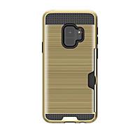 Недорогие Чехлы и кейсы для Galaxy S9-Кейс для Назначение SSamsung Galaxy S9 Plus / S9 Бумажник для карт Кейс на заднюю панель Однотонный Твердый Ластик для S9 / S9 Plus / S8 Plus