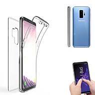 Недорогие Чехлы и кейсы для Galaxy S8-Кейс для Назначение SSamsung Galaxy S9 S9 Plus Полупрозрачный Чехол Сплошной цвет Мягкий Силикон для S9 Plus S9 S8 Plus S8 S7 edge S7 S6