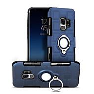 Недорогие Чехлы и кейсы для Galaxy S9-Кейс для Назначение SSamsung Galaxy S9 S9 Plus Защита от удара Кольца-держатели Кейс на заднюю панель Геометрический рисунок Твердый ПК