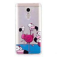 お買い得  携帯電話ケース-ケース 用途 Xiaomi Redmi Note 4X IMD パターン バックカバー フラミンゴ ソフト TPU のために Xiaomi Redmi Note 4X