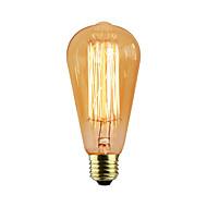halpa Hehkulamppu-1kpl 60 W E26 / E27 / E27 ST58 Lämmin valkoinen Himmennetty Vintage Edison-hehkulamppu 220-240 V / 110-130 V / 85-265 V