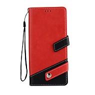 Недорогие Чехлы и кейсы для Galaxy Note-Кейс для Назначение SSamsung Galaxy Note 8 Бумажник для карт со стендом Чехол Сплошной цвет Твердый Кожа PU для Note 8
