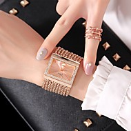 abordables Relojes de Moda-Mujer damas Reloj de Moda Reloj de Vestir Cuarzo Reloj Casual Aleación Banda Analógico Moda Plata / Dorado / Oro Rosa - Dorado Plata Oro Rosa