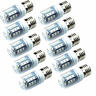 お買い得  LED コーン型電球-10個 3.5W 250lm E14 E26 / E27 LEDコーン型電球 T 26 LEDビーズ SMD 5050 グリーン 220-240V