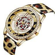 お買い得  -ASJ 女性用 カジュアルウォッチ / ファッションウォッチ 中国 模造ダイヤモンド PU バンド カジュアル / ファッション シルバー / ゴールド / SSUO 377