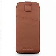 お買い得  携帯電話ケース-ケース 用途 Samsung Galaxy A7(2018) A7(2017) カードホルダー 耐衝撃 ポーチ 純色 ソフト 本革 のために C5