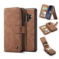 Недорогие Чехлы и кейсы для Galaxy S-Кейс для Назначение SSamsung Galaxy S9 S9 Plus Бумажник для карт Кошелек Защита от удара со стендом Флип Чехол Сплошной цвет Твердый
