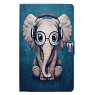 Недорогие Чехлы и кейсы для Galaxy Tab E 9.6-Кейс для Назначение SSamsung Galaxy Tab E 9.6 Бумажник для карт со стендом Флип С узором Чехол Слон Твердый Кожа PU для Tab E 9.6